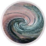 Home Planet - Northern Vortex Round Beach Towel