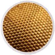 Honey Bee Eye Round Beach Towel