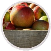 Honey Crisp Round Beach Towel by Susan Herber