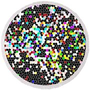Honeycomb Abstract  Round Beach Towel
