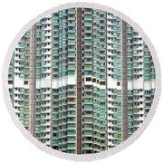 Hong Kong Residential Building Round Beach Towel