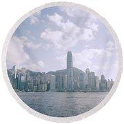 Hong Kong Skyline Round Beach Towel