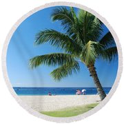 Honolulu Sun 0757 Round Beach Towel