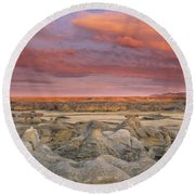 Hoodoos, Milk River Badlands, Writing Round Beach Towel