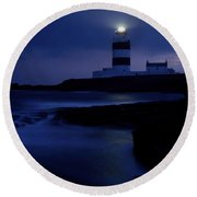 Hook Head Lighthouse, County Wexford Round Beach Towel