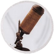 Hookes Microscope Round Beach Towel