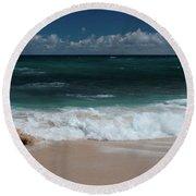 Hookipa Waiola At The Outer Edge Round Beach Towel
