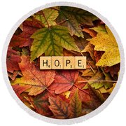 Hope-autumn Round Beach Towel
