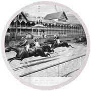 Horse Racing, 1889 Round Beach Towel