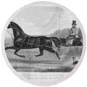 Horse Racing, C1850 Round Beach Towel