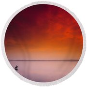 Horse Riding, Strangford Lough, County Round Beach Towel