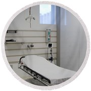 Hospital Gurney Round Beach Towel