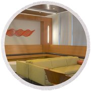 Hospital Waiting Room Round Beach Towel