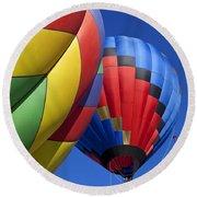 Hot Air Ballons Round Beach Towel