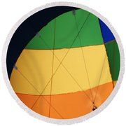 Hot Air Balloon Rigging Round Beach Towel