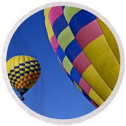 Hot Air Balloons Round Beach Towel