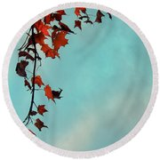 Hot And Cold Round Beach Towel by Aimelle
