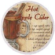 Hot Apple Cider Round Beach Towel by Debbie DeWitt