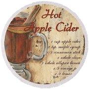 Hot Apple Cider Round Beach Towel