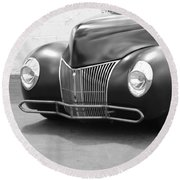 Hot Rod Front End Round Beach Towel