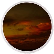 Hot Summer Night Sky Round Beach Towel