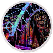 Hot Town Summer In The City Round Beach Towel