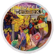 Hotel Essex  Round Beach Towel