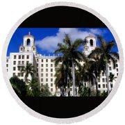 Hotel Nacional De Cuba Round Beach Towel