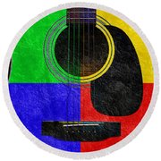Hour Glass Guitar 4 Colors 1 Round Beach Towel
