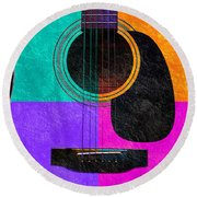 Hour Glass Guitar 4 Colors 2 Round Beach Towel