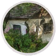 House For Sale Round Beach Towel