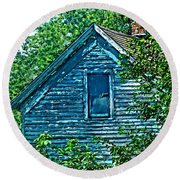 House In The Woods Art Round Beach Towel