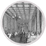 House Of Commons, 1854 Round Beach Towel