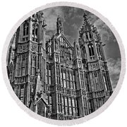 House Of Lords Round Beach Towel