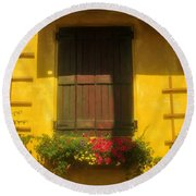 House Of Yellow Round Beach Towel