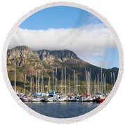 Hout Bay Harbour Round Beach Towel