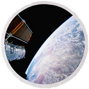 Hubble Space Telescope Round Beach Towel