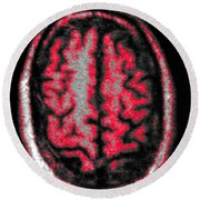 Human Brain Round Beach Towel