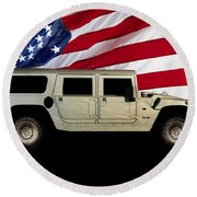 Hummer Patriot Round Beach Towel