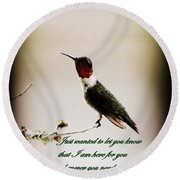 Hummingbird - Cards Round Beach Towel