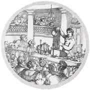 Humphrey Davy Lecturing, 1809 Round Beach Towel by Science Source