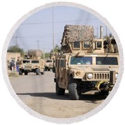 Humvees Conduct Security Round Beach Towel