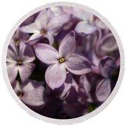 Hungarian Lilac Nr 9 Round Beach Towel