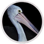 Hungry Pelican Round Beach Towel