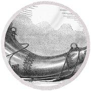 Hunting Horn, 1869 Round Beach Towel