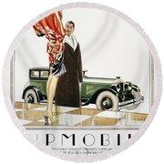 Hupmobile Ad, 1926 Round Beach Towel