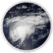 Hurricane Gordon Over The Atlantic Round Beach Towel