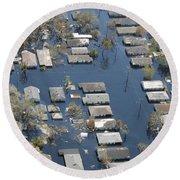 Hurricane Katrina Damage Round Beach Towel
