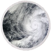 Hurricane Kenneth Off The Coast Round Beach Towel