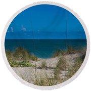 Hutchinson Island Heaven Round Beach Towel by Trish Tritz